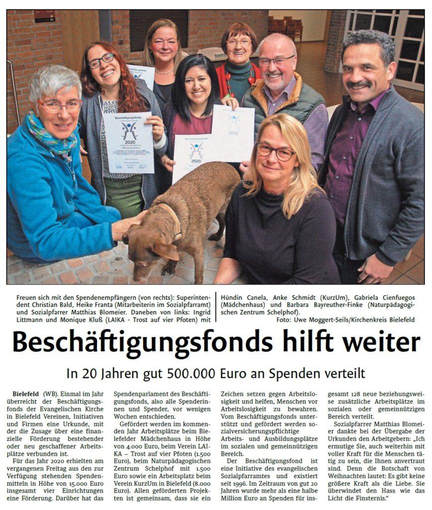 Beschäftigungsfond Kirchenkreis Bielefeld